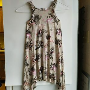 Two Girls Tropic Pattern Sun Dress